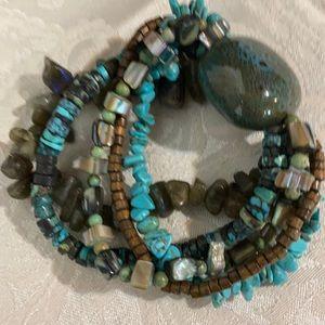 Hand crafted genuine stone bracelet